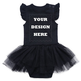 Custom Baby Tutus Australia - Newborn Baby Girls Dress Infant Tutu Body Suit Sleeveless Black Lace 100% Cotton Your Own Design Toddler Outfits Clothes Custom Y19061201