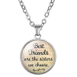 Best Wholesale T Shirts Australia - CHEAP Best Friends are the sisters we choose PENDANT SWEATER NECKLACE COLLAR JEWELR FREE STYLE CLASSIC COLLARBONE JERSEY T-SHIRT NECKLACES