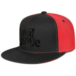 Cool Unisex Kids Hats Australia - David Bowie simple logo for men and women flat brim hats black snapback cool kids hats plain make your own fashion stylish cute unique p