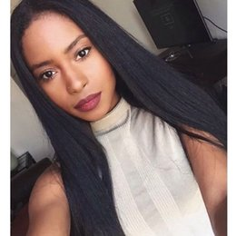 medium length human hair lace wig Australia - 2019 Lace Frontal Wig Up to 250 Density Pre Plucked Straight Brazilian Remy Hair Human Hair Lace Wigs For Black Woman
