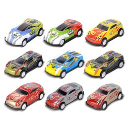Mini Plastic Australia - Pull Back Car 9 Patterns Assorted Mini Plastic Vehicle Set Pull Back Car Toys for Boys Kids Child Party Favors Simulated iron Racing Cars