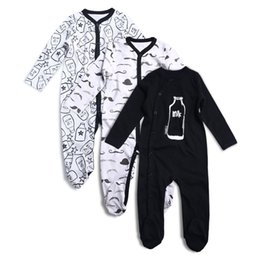 $enCountryForm.capitalKeyWord UK - 3pcs Newborn Baby Boy Girl Rompers Long Sleeve Cotton Embroider Jumpsuit Unisex Baby Clothing Set Kids Pajamas Sets Printed Y19061201