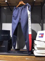 43f8bd119aef8b Discount tech fleece - 19ss New Arrvial Paris JEANS Pants elastic waist  track Trousers Unisex Men