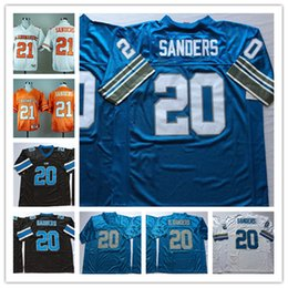 Wholesale Mens NCAA Vintage #21 Barry Sanders Oklahoma State Cowboys Jersey stitched #20 Barry Sanders Detroit Football Jersey S-3XL