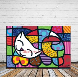 painting puzzles Australia - Cat Puzzle , Canvas Painting Living Room Home Decor Modern Mural Art Oil Painting