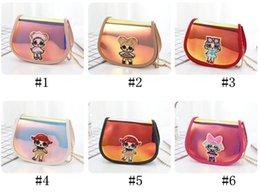 $enCountryForm.capitalKeyWord NZ - INS Surprise Girls Chain Bag Brand Designer Crossbody Bags Kids Fanny Pack Cartoon One Shoulder Bags Pu Leather Laser Purses Pouch B71702