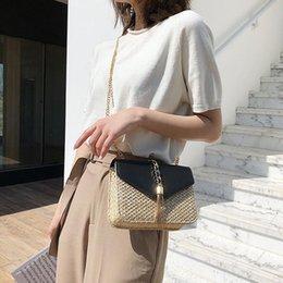$enCountryForm.capitalKeyWord NZ - JHD-Fringed Chain Small Flap Bag For Women Straw Crossbody Bags Ladies Summer Messenger Shoulder Handbags And Purses