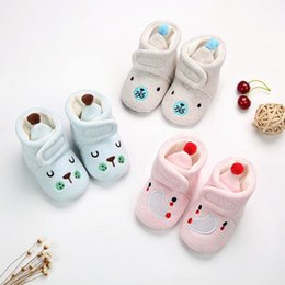 3231244052be Baby Walking Boots NZ - Autumn and winter embroidered wool ball warm shoes