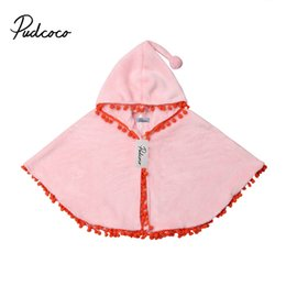 Baby Girls Spring Jackets Australia - 2019 winter spring fashion kid baby Coat Jacket cotton hooded girls ball tassel Coat jackets baby girls Xmas cape cloaks clothes