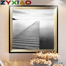 $enCountryForm.capitalKeyWord Australia - ZYXIAO Posters and Prints landscape black bridge modern Oil Painting Canvas No Frame Wall Pictures for Living Room Home Decoration A9306