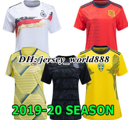 Wholesale BRAZILSL GERMANYL Colombia World Cup Women Mexico Away Soccer Jersey home Sweden Spain Argentina Football shirt