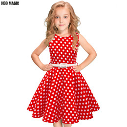 $enCountryForm.capitalKeyWord Australia - Polka Dot Kids Girls Summer Dress Children Clothing Sleeveless Princess Cotton Dress Girl Audrey 1950s Vintage Swing Party DressMX190822