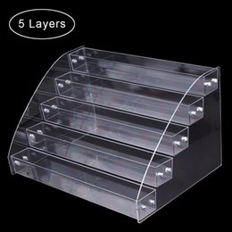 nail art storage cases UK - Nail Art Equipment 1 To 7 Tier Nail Polish Rack Tabletop Display Stand Plastic Box Acrylic Display Holder Lipstick Organizer Storage Case