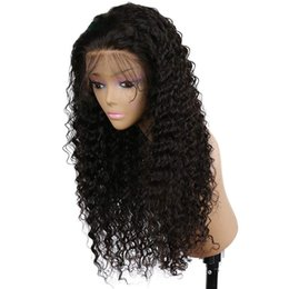 Indian Remy Full Lace Front Wigs UK - Curly Wig Glueless Full Lace Wigs Black Women 100% Indian Remy Human Hair Lace Front wig with baby hair