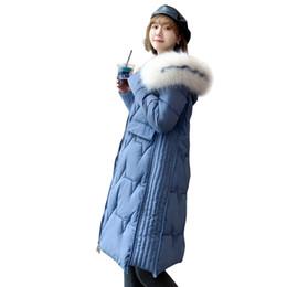 Korean women winter long coat online shopping - Women s Cotton padded Clothes Long Style Cotton padded Clothes Over The Knee Winter New Korean Style Coat with Big Woolen Collar