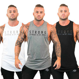 Wholesale Mens Bodybuilding Stringer Tank Tops Y Back Gym Workout Sports Vest Shirt Clothes