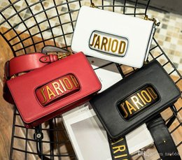 Multi Color Hand Bag Australia - J'ARIOD Flap Bag with Chain in Calfskin Leather Carried in Hand Aged Gold-Tone Metal Jewellery come with dust Free Shipping