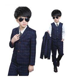Baby Pant Coat Dress Australia - 2019 New Boy Flower Girl Dress Three-piece Suit(coat+vest+pants) Suit Formal Child Boy Fashion Wedding Baby Boy Suits