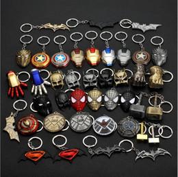 $enCountryForm.capitalKeyWord Australia - 10 pieces lot, Animation movie Hero equipment Alloy Pendant Key chains automobile Key Ring Iron Man Mask Animation cartoon Accessories gift