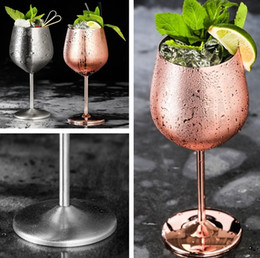 China mug double glass online shopping - Wine Glasses Stainless Steel cups cocktail cups Goblet Vacuum Double layer thermo cup Drinkware Wine Glasses Red Wine Mugs