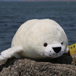 quality plush toys Australia - Quality Plush Toy Simulation Seal Doll Cute Ragdoll Large Toy Ocean Polar Museum Seal Doll Gift 29inch 74cm DY50577