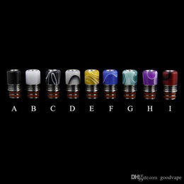 colors e cigs NZ - e-cigs atomizer drip tip A variety of colors 510 thread Stainless steel resin droplets mouth 21.2mm*11mm Factory outlets high-quality