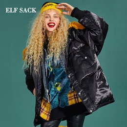 StyliSh coatS for winter online shopping - ELF SACK New Woman Down Jacket White Duck Down Coat Solid Full Wide waisted Casual Stylish For Women Winter Wearing Jackets