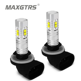 cree led lenses 2019 - 2 x H27 881 880 LED 30W 50W LED Bulb CREE Chip Car Daytime Running Light Driving Fog DRL Projector Lens Bulb lamp White