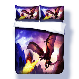 $enCountryForm.capitalKeyWord Australia - 3D Print Dragon Bedding Set Twin Full Queen Size for kids boys Home Bedclothes Microfiber Fabric cartoon Comforter Cover Set
