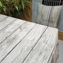 $enCountryForm.capitalKeyWord Australia - Vintage European Stlye Popular Table Cloth Linen Rectangular Table Cloth Wooden Grain Dustproof Bar Restaurant Table Cover