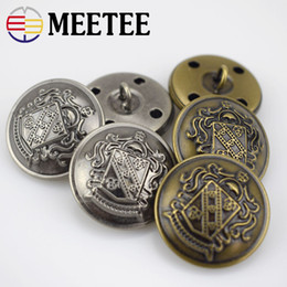 Coat Buttons Sewing Canada - Meetee 12-30mm Metal Buttons Jeans Coat Jacket  Button Copper cf160ddd6294
