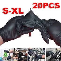 20PC S / M / L / XL Tek Yumuşak Siyah Lateks Dövme Eldiven Nitril Lateks Steril Kalıcı Dövme Eldivenler Aksesuar