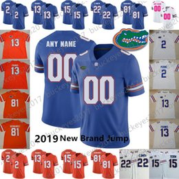 Wholesale Custom Florida Gators Football New Jump Any Name Number Blue Orange White Aaron Hernandez Franks Toney Perine Tebow Pierce Jersey