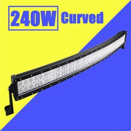 $enCountryForm.capitalKeyWord Australia - Free shipping 42'' inch 240W Curved LED Working Light Bar Spot Flood Combo Beam 12V 24V 80X3W for Car Boat Jeep Truck Ford ATV SUV