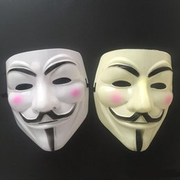 V Vendetta Cosplay UK - Hot Selling Party Masks V for Vendetta Mask Anonymous Guy Fawkes Fancy Dress Adult Costume Accessory Party Cosplay Masks WCW412