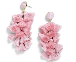 Chinese  New Tassel Earrings For Women Ethnic Big Drop Earrings Bohemia Trendy Cotton Rope Fringe Long Dangle Earrings ZA Jewelry A1007 manufacturers