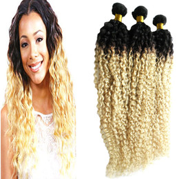$enCountryForm.capitalKeyWord Australia - Kinky Curly Coily Brazilian Hair Weave Bundles Remy Human Hair Extensions 3 Bundles Double Machine Weft 100% Remy Human Hair Weave