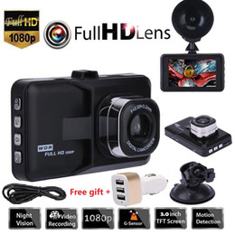 "Toptan satış 3.0"" Araç 1080P Araç DVR Pano 32GB DVR Kamera Video Kaydedici Hafıza Kartı Dash Cam G-Sensörü GPS Ücretsiz Kargo"