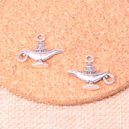 $enCountryForm.capitalKeyWord Australia - 84pcs Charms aladdin magic lamp genie Antique Silver Plated Pendants Fit Jewelry Making Findings Accessories 22*18mm