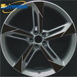 "$enCountryForm.capitalKeyWord Australia - SUNFADA 18"" 19"" 20"" 21"" Wheel Hub  Rims Carbon Fiber Car Stickers For AUDI A4 A6 A8 Q7 RS7 RS6 RS4 TT Decal Car-styling 4 Wheels"