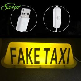 $enCountryForm.capitalKeyWord Canada - ZHIYUAN Auto Decoration 5V USB FAKE TAXI Car Top LED Light Cab Roof Car Styling Sticker