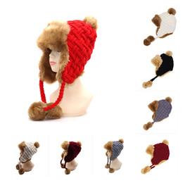 Skull ball capS online shopping - Ear Protector Hair Ball Warm Wool Cap Winter Cashmere Man And Women Luxury Cap Thickening Fashion Beanie rm Ww
