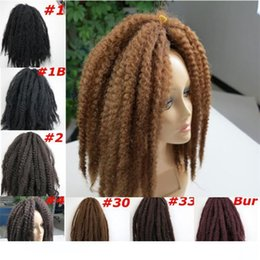marley kinky braid hair UK - A Kanekalon Synthetic Marley Braids Hair Bulk 20inch 100g Afro Kinky Twist Synthetic Braidiing Hair Extensions More Colors