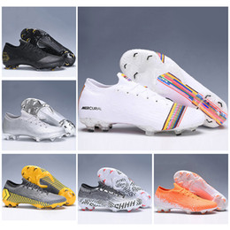 Football Kids Superfly Australia - Kids Low Ankle Football Boots Youth Mercurial Vapors XII 360 Elite FG Soccer Shoes Mens Womens Superfly VI Neymar ACC Soccer Cleats