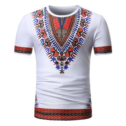 07fa17cd2 Dashiki african print t shirt online shopping - White Slim Fit Short Sleeve  T Shirt Men