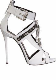 Sexy Back Zip High Heel Shoes Australia - Famous rivet peep toe women sandal sexy metal zipper women party high heels ladies outdoor popular shoes girl's comfortable sandals US size
