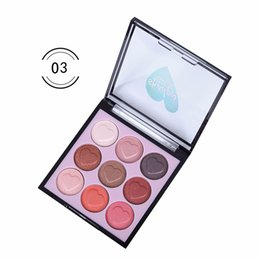 $enCountryForm.capitalKeyWord Canada - Factory Wholesale 9 Colors Single Makeup Blush Eye Shadow Heart Design Shiny Palette Metallic All Skin Cheek Face Plate Cosmetics DHL Free