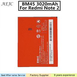 xiaomi hongmi battery UK - For Xiaomi Redmi Note 2 Hongmi Note2 BM45 Battery Replacement Batteries For Xiaomi Redmi Note2 Battery 3020mAh