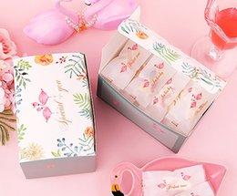 Ingrosso 2019 Nuova vendita calda Creative Flamingo Cookie Gift Baking Package Box Biscuit Chocolate Nougat Paper Box