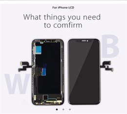 $enCountryForm.capitalKeyWord NZ - New Arrival OEM Amoled LCD For iPhone X 10 Official Quality Perfect Color Face Recognition + Free DHL Shipping+ 1 year Warrant